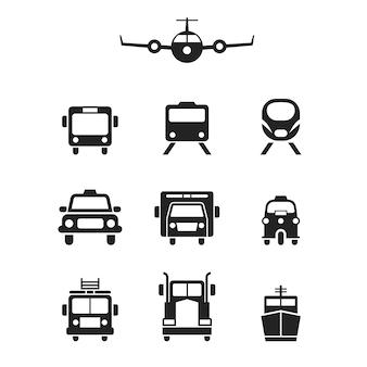 交通アイコンのセット