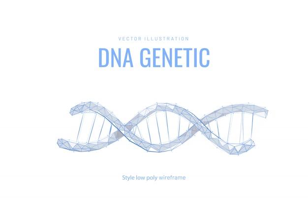 Спираль или днк. концепция баннера для биотехнологий, науки, медицины. технологии и инновации в генной инженерии.