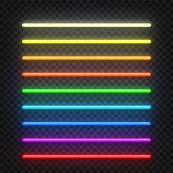 ネオンの光の効果記号。