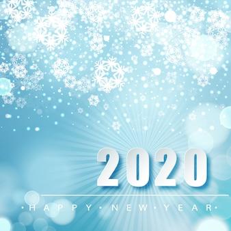 Зимний сезон фон с падающим снегом. новый год плакат шаблон. праздничные поздравления.