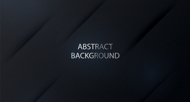黒の背景。広いバナーの暗い背景。抽象的な黒の背景