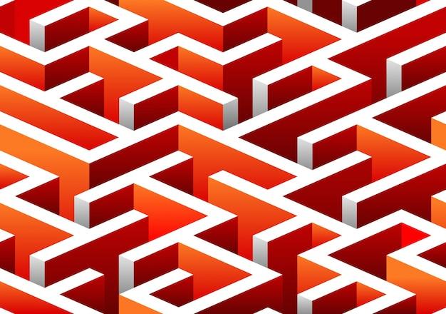 Изометрический бесшовный узор из лабиринта.