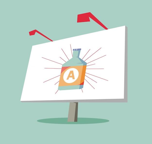 Рекламный щит с показом продукта