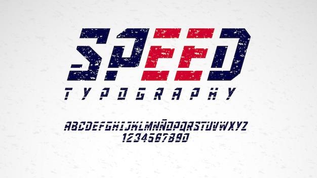 Современная типография с потертым эффектом