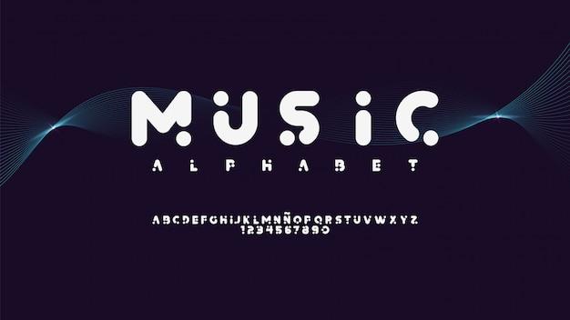 音楽スタイルを備えたモダンな書体