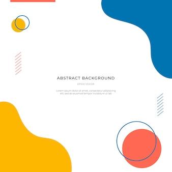 Красочный мемфис абстрактный фон