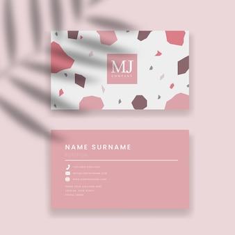 Визитная карточка и абстрактный фон