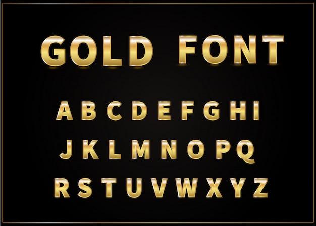 Золотой алфавит вектор