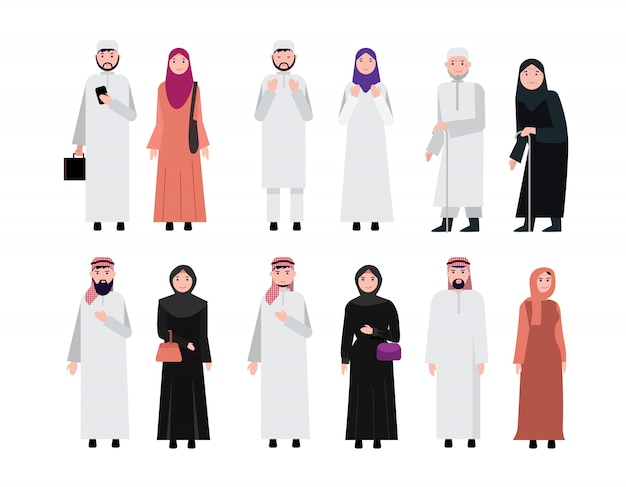 Мусульманские арабские люди