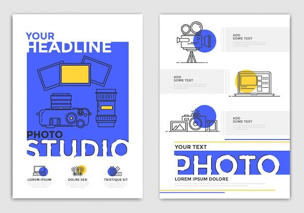 パンフレットのデザインテンプレート-写真