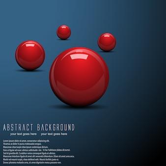 抽象的なボールの背景。