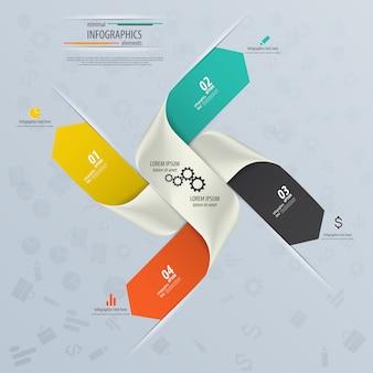 Инфографика дизайн с номерами