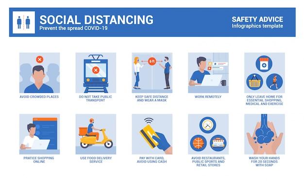 コロナウイルスの安全性に関するアドバイス-社会的距離