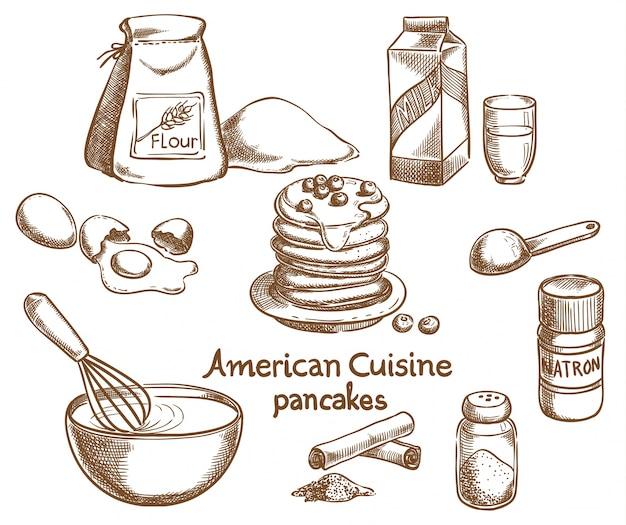 アメリカのパンケーキと成分