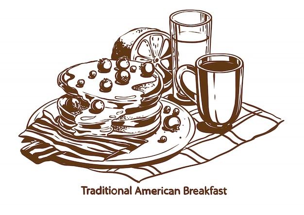 伝統的なアメリカ式朝食