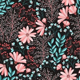 Весенний цветочный узор