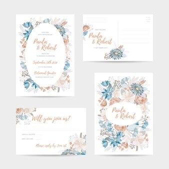 Комплект свадебных приглашений