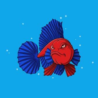 手描きのベタの魚
