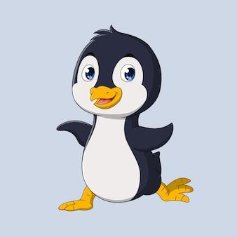 Счастливый маленький пингвин