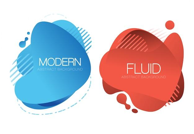 抽象的な青と赤の液体の背景デザイン