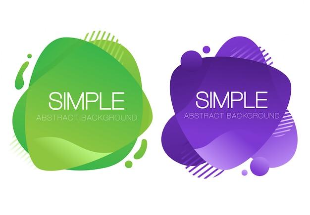抽象的な紫と緑の液体の背景デザイン