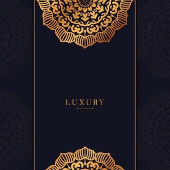 Роскошный фон мандалы с золотой арабский дизайн арабский исламский восточный стиль