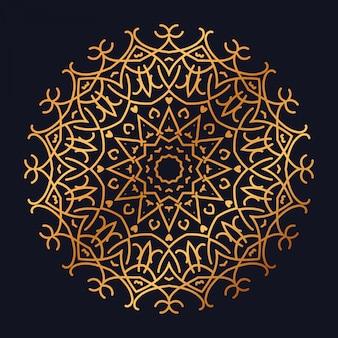 黄金のアラベスクデザインアラビアイスラム風の豪華なマンダラ