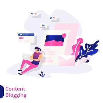 Иллюстрация блога содержания
