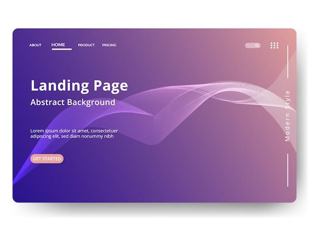 Абстрактный фон шаблон целевой страницы. веб-страница для веб-сайта и мобильной разработки.