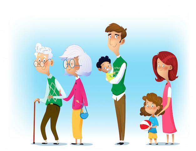 Большая семья вместе.