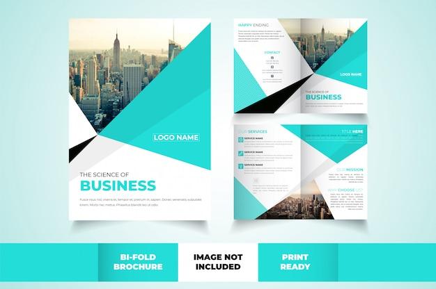 Корпоративный шаблон складной брошюры
