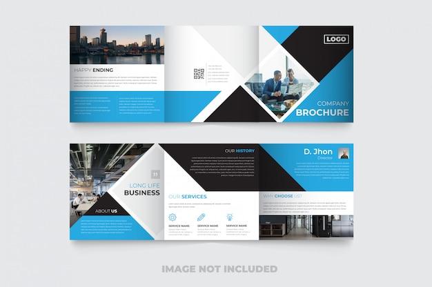 新しい企業の四つ折りパンフレットのデザイン