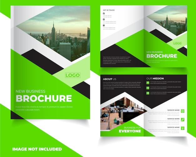Двойной дизайн шаблона брошюры