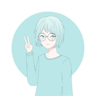 Аниме девушка персонаж