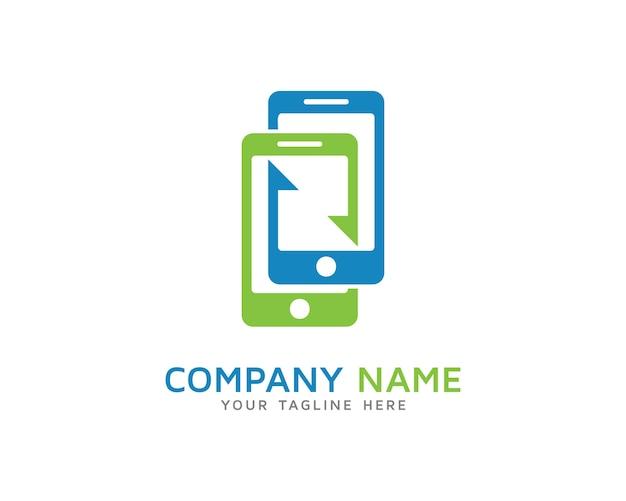 モバイル同期ロゴデザイン