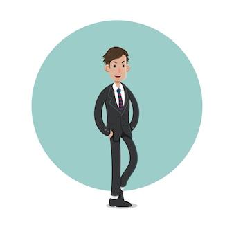 ビジネスマンのキャラクターのイラスト