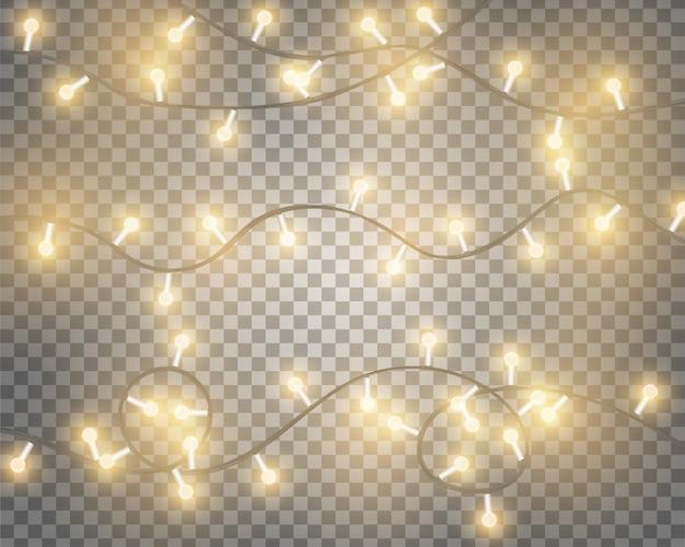 Реалистичные светящиеся лампочки украшение фон.