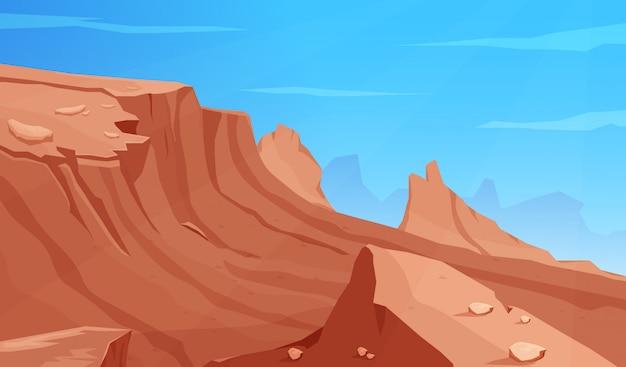 Пустынные скалы и холмы игровых