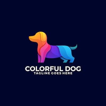 犬のカラフルなロゴ