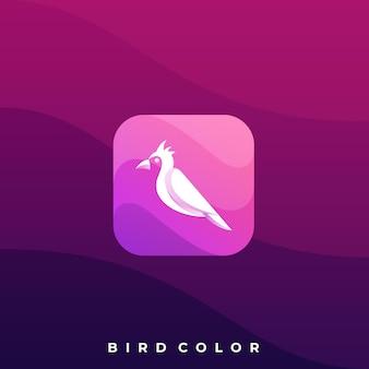 鳥アイコンイラストデザインテンプレート