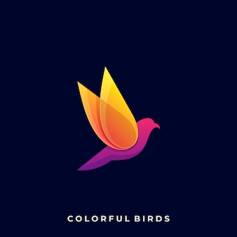 カラーフルバードロゴ