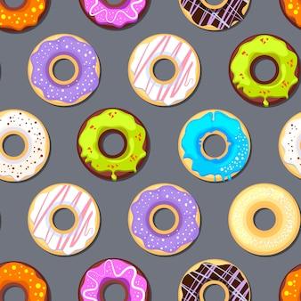 ドーナツとのシームレスなパターン