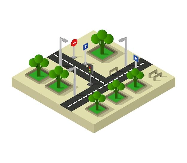 等尺性道路交差点