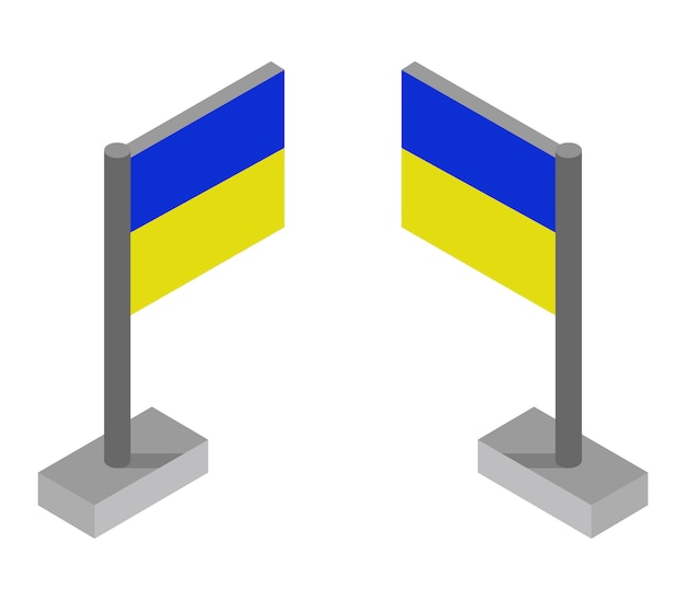 等尺性のウクライナの旗