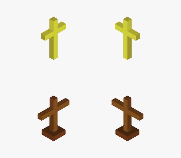 宗教的な十字架のセット