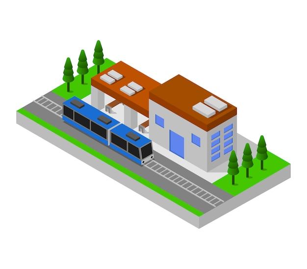 等尺性鉄道駅