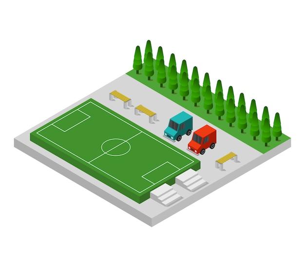 Изометрические футбольное поле