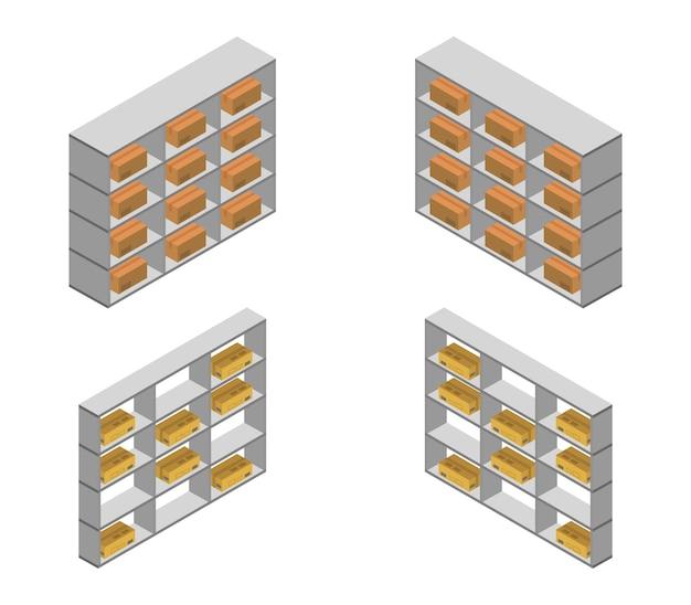 Комплект изометрических складских полок