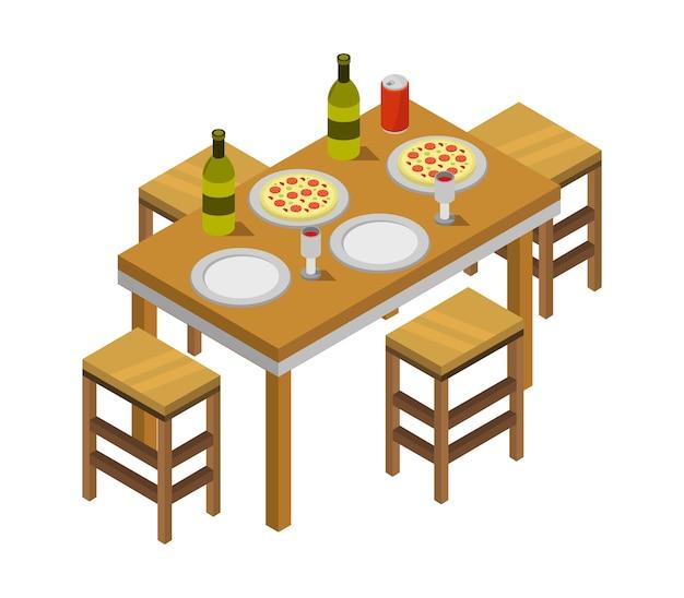 Изометрический кухонный стол