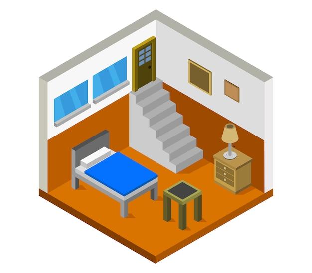 アイソメトリック寝室
